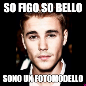 So figo so bello sono un fotomodello