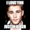 i love you  justin biber