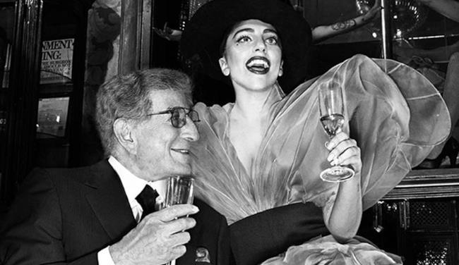 Lady Gaga e Tony Bennett foto in bianco e nero