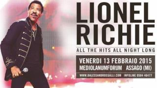 Lionel Richie All The Hits All Night Long Tour 2015