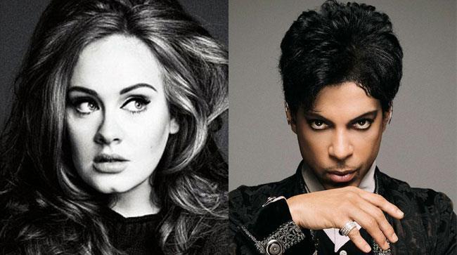 Primo piano di Adele e Prince