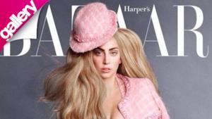 Lady Gaga e il suo cane Asia in un servizio su Harper's Bazaar