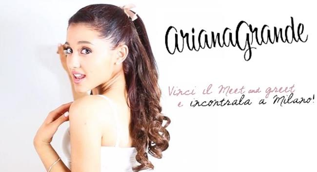 Ariana Grande meet and greet Milano 2014