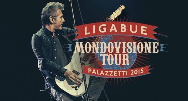 Locandina Ligabue Mondovisione Tour Palazzetti 2015