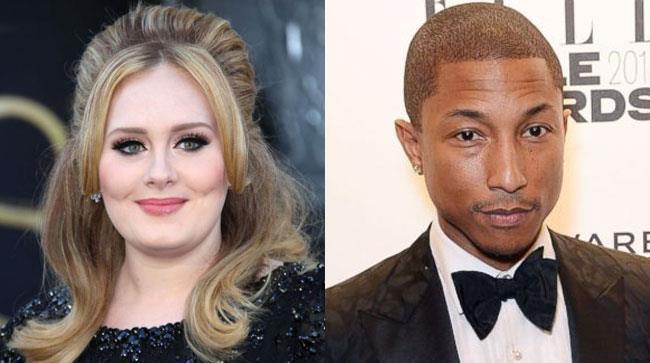 Adele e Pharrell Williams