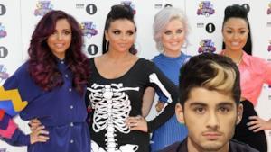 Le Little Mix in posa per una foto in compagnia di Zayn Malik