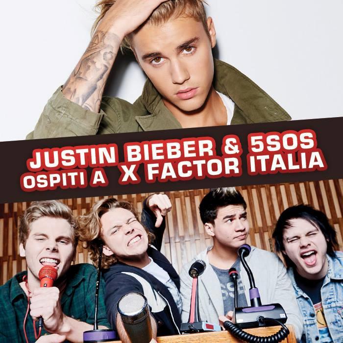 Tra gli ospiti di X Factor Italia 2015 ci sono anche Justin Bieber e i 5SOS