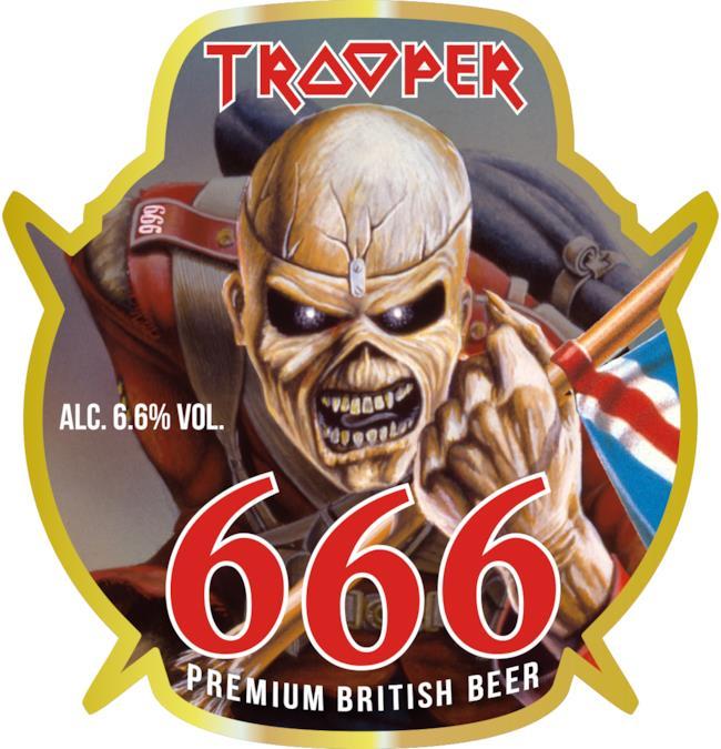 Logo della Trooper 666, la nuova birra degli Iron Maiden