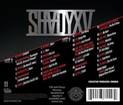 Il retro di copertina di Shady XV