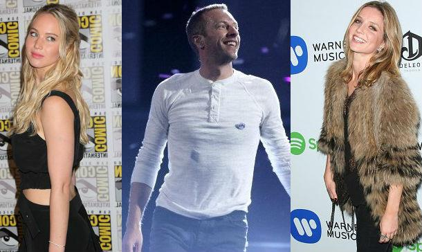 Chris Martin tra Jennifer Lawrence e Annabelle Wallis