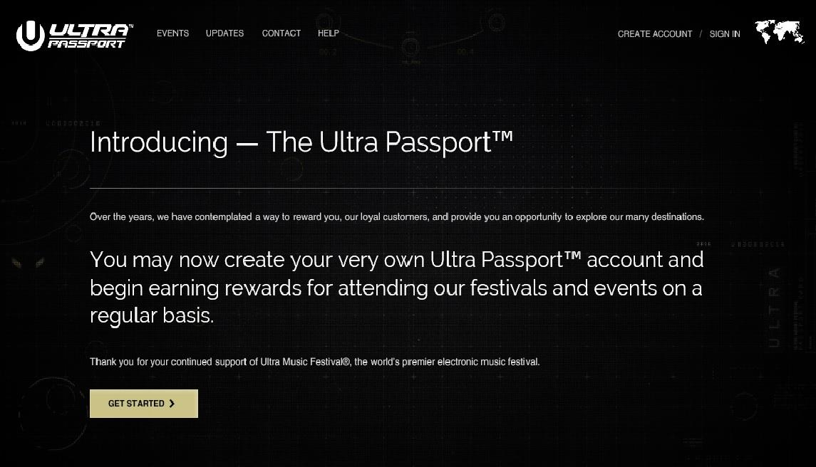 Homepage Ultra Passport