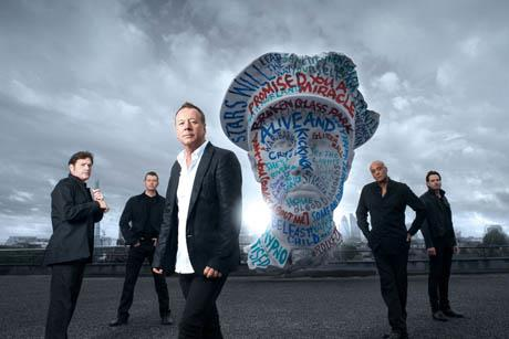 La band scozzese dei Simple Minds