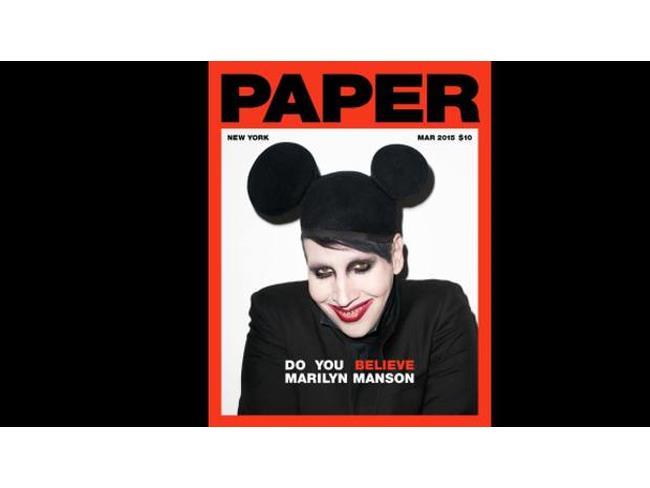 Marilyn Manson con orecchie di Topolino