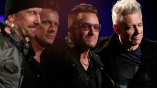 I 4 membri degli U2 insieme nel 2014