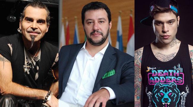Piero Pelù, Matteo Salvini e Fedez