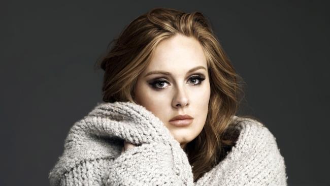 La cantautrice britannica Adele.