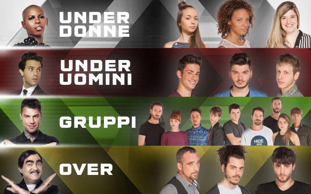 I componenti delle 4 squadre di X Factor 9