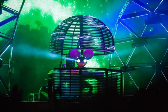 Deadmau5 sullo stage di Glastonbury