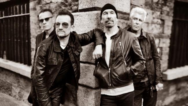 Gli U2 in bianco e nero