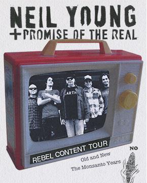 Il Rebel Content Tour di Neil Young arriva anche in Italia nel 2016