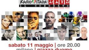 Radio Italia concerto Milano 11 maggio 2013: Marco Mengoni, Fabri Fibra, Negramaro e...