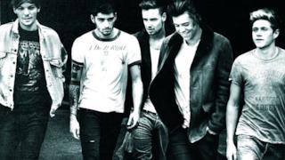 I One Direction sulla copertina dell'album Midnight Memories