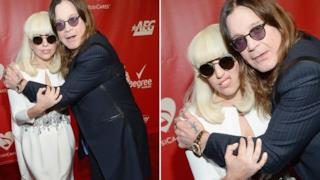 Ozzy Osbourne abbraccia Lady Gaga