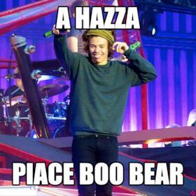 a hazza  piace boo bear