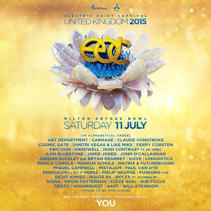 La Line Up dell'EDC UK, l'evento di Insomniac a Milton Keynes
