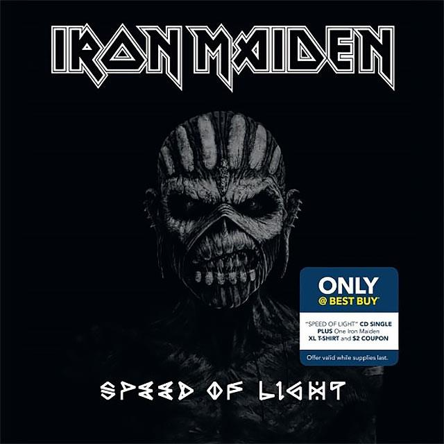 Copertina del singolo Speed of Light degli Iron Maiden