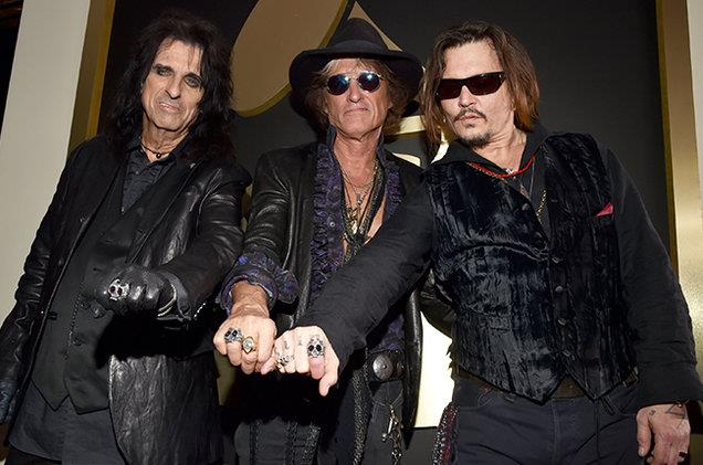 Alice Cooper, Joe Perry e Johnny Depp
