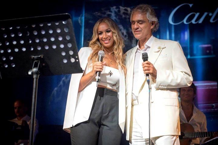 Bocelli con Leona Lewis