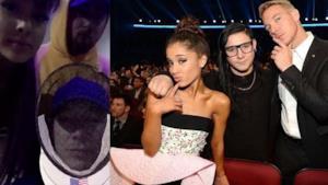 La cantante Ariana Grande e il DJ Diplo