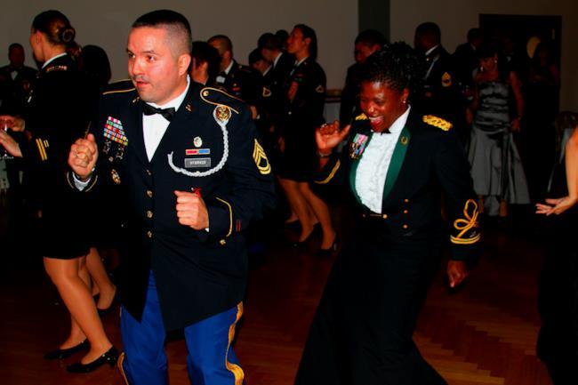 Alcuni dei veterani presenti al