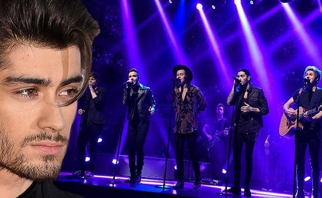 Zayn Malik sul palco insieme agli One Direction