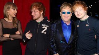 Ed Sheeran parla della sua amicizia con Elton John e Taylor Swift