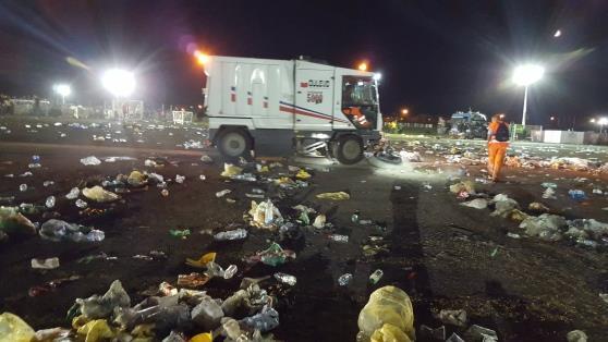 I rifiuti lasciati dai fan di Ligabue