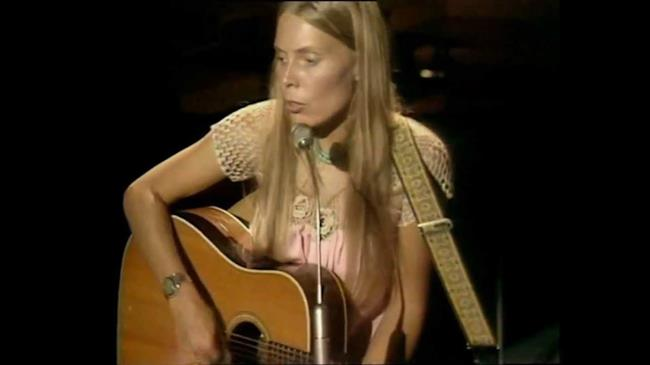 Joni Mitchell live negli anni '70