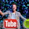 Chris Martin, logo di YouTube e di Spotify