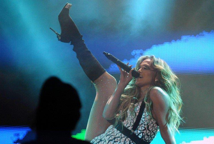 Un momento del concerto di Jennifer Lopez in Marocco