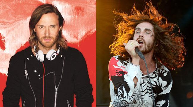 Primo piano di David Guetta e Sam Martin