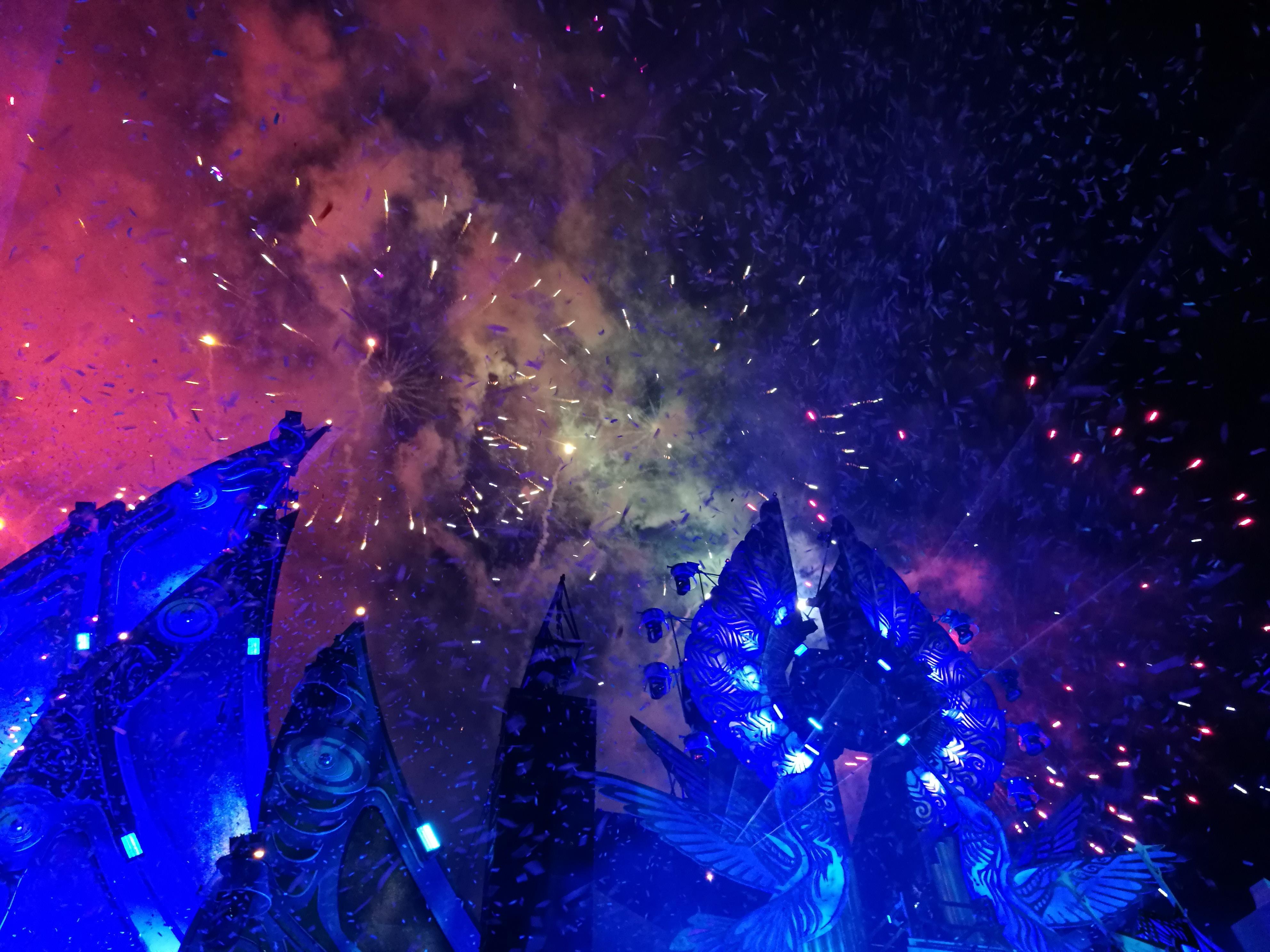Fuochi d'artificio finali al Mysteryland