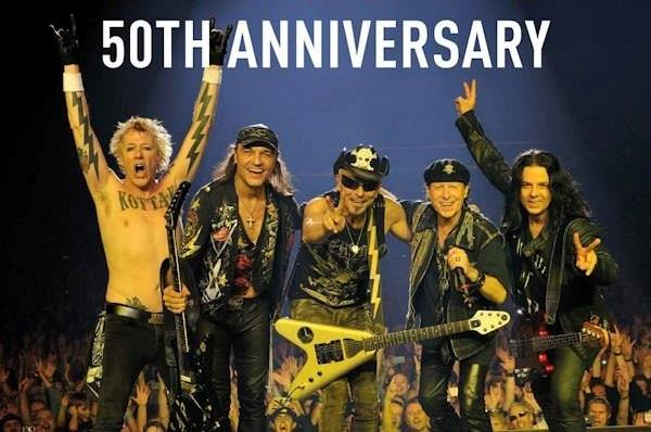 Gli Scorpions festeggiano 50 anni di carriera