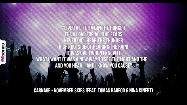 Carnage: le migliori frasi dei testi delle canzoni
