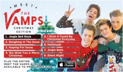 La copertina dell'album Meet The Vaps Christmas Edition