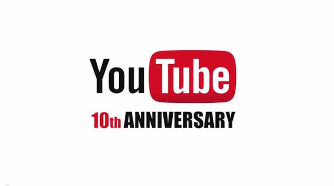 YouTube 10 anniversario