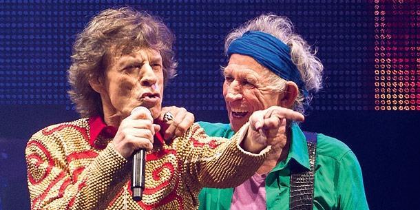 Mick Jagger e Keith Richards sul palco insieme