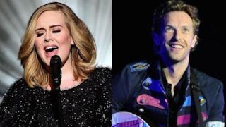 Adele e Chris Martin dei Coldplay