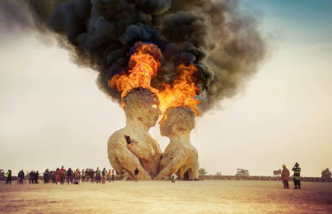 Una vecchia edizione del Burning Man