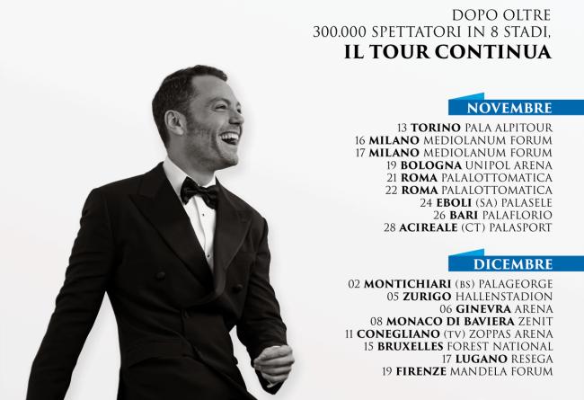 Tiziano Ferro live nei palazzetti da novembre 2015